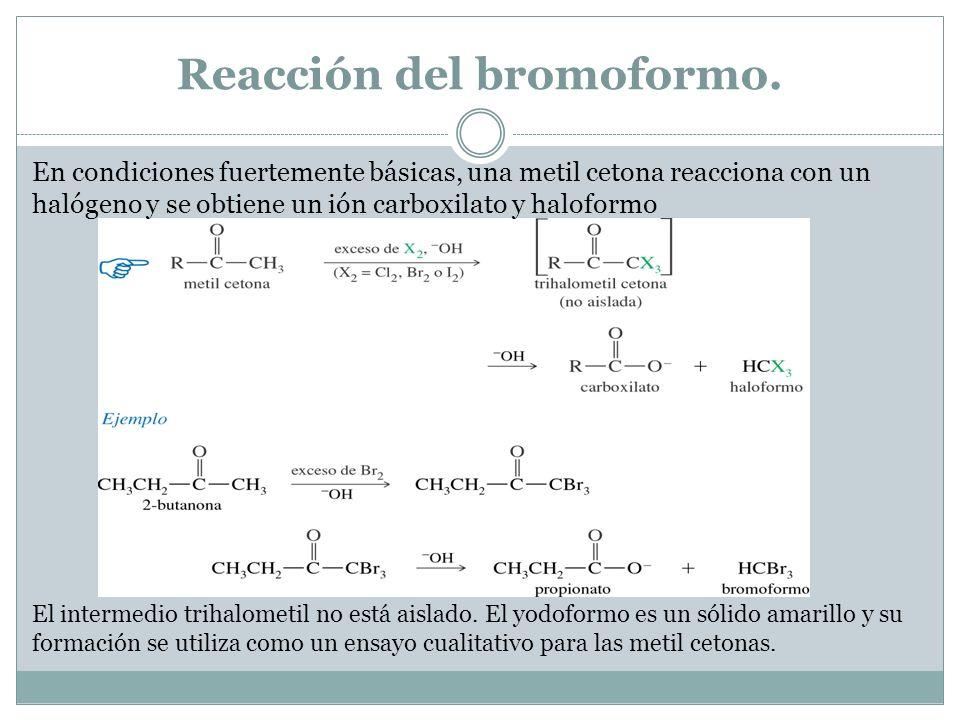 Reacción del bromoformo.