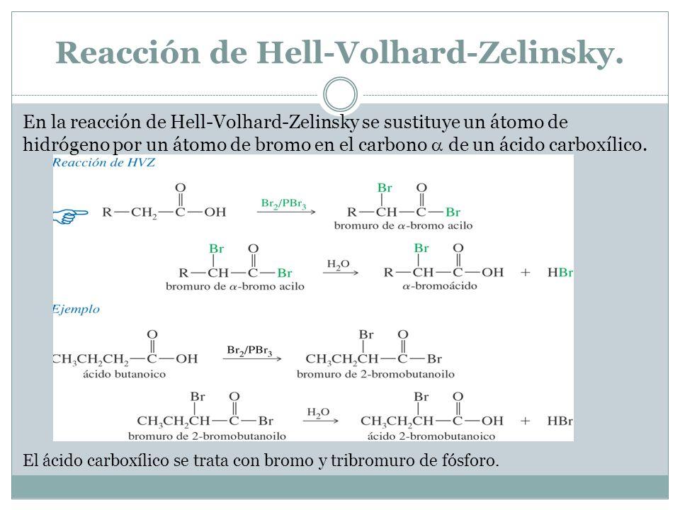 Reacción de Hell-Volhard-Zelinsky.