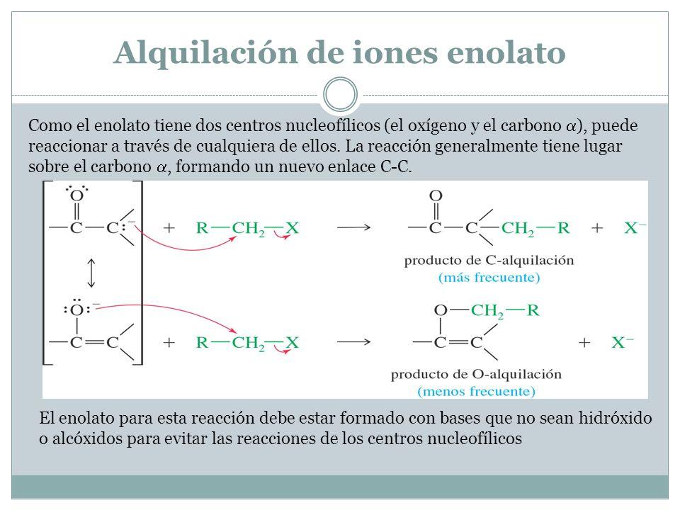 Alquilación de iones enolato