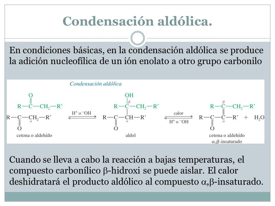 Condensación aldólica.