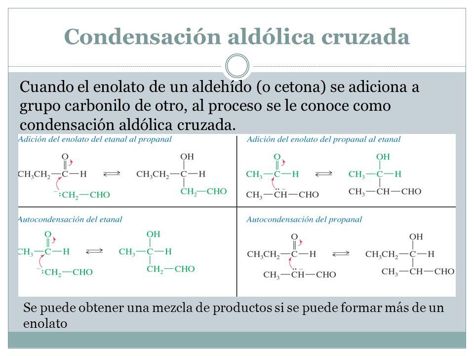 Condensación aldólica cruzada