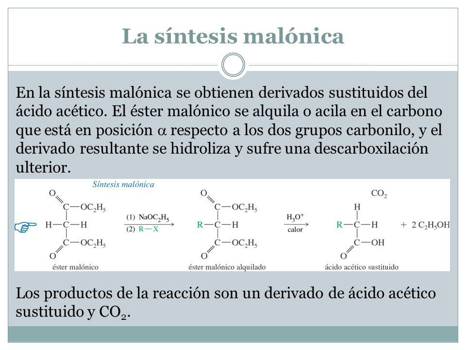 La síntesis malónica