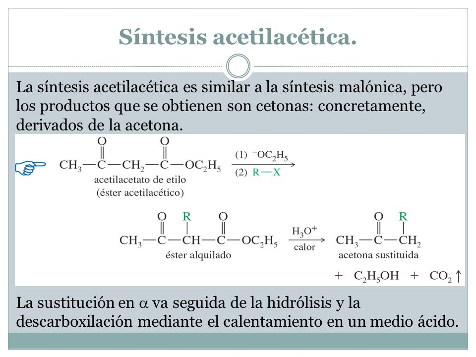 Síntesis acetilacética.