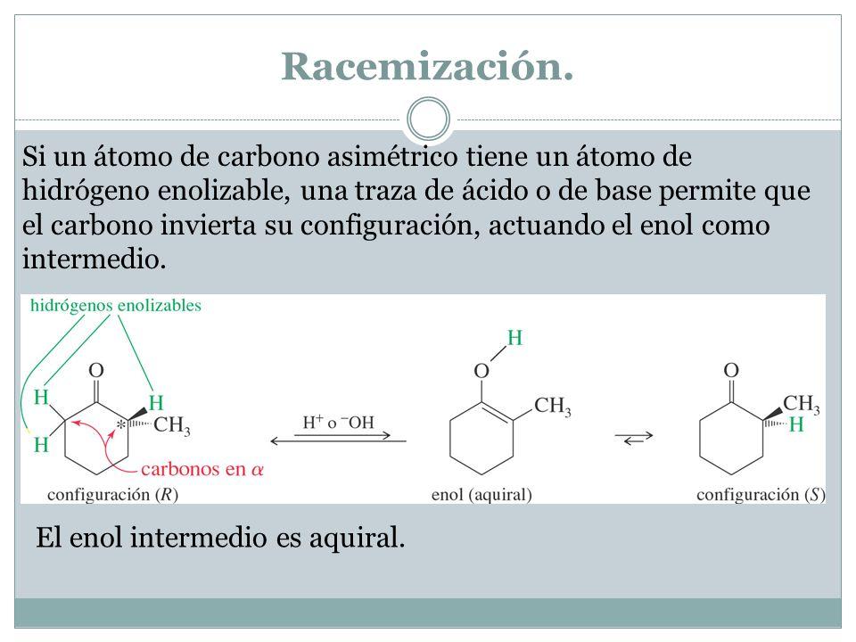 Racemización.