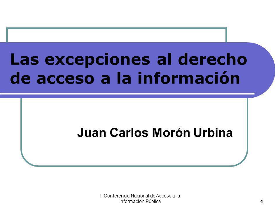 Las excepciones al derecho de acceso a la información