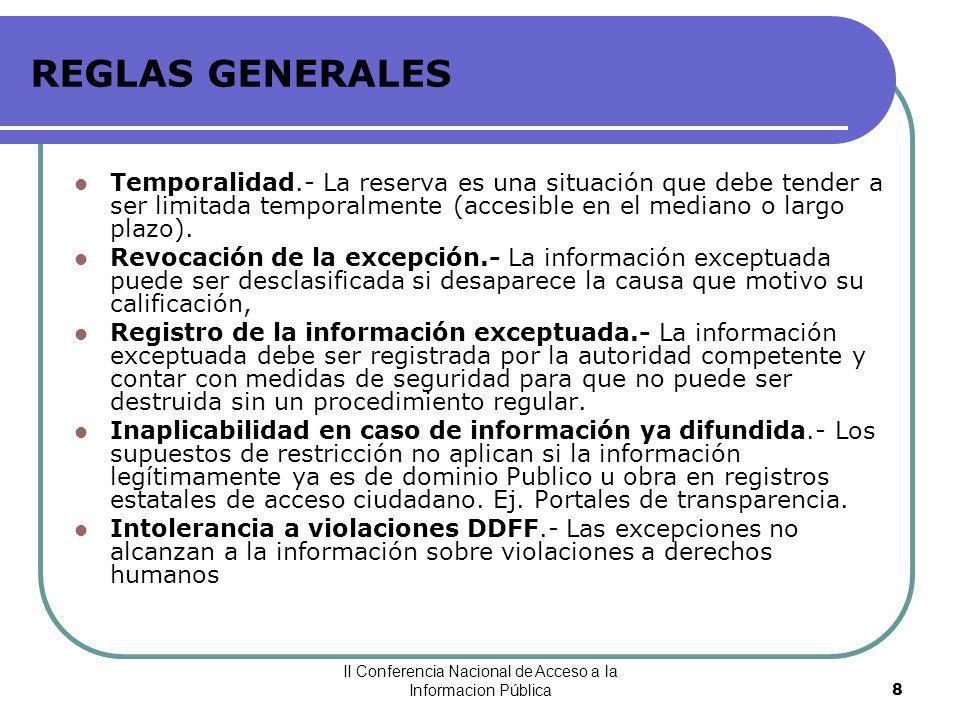 II Conferencia Nacional de Acceso a la Informacion Pública
