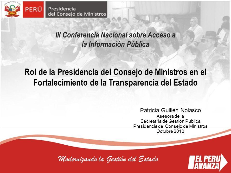 III Conferencia Nacional sobre Acceso a la Información Pública