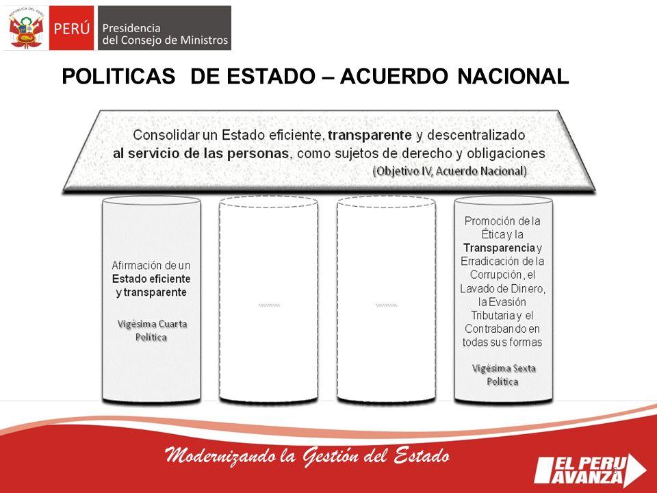 POLITICAS DE ESTADO – ACUERDO NACIONAL