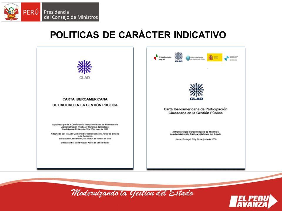 POLITICAS DE CARÁCTER INDICATIVO