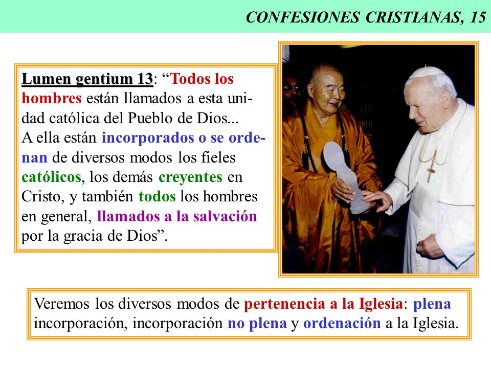 CONFESIONES CRISTIANAS, 15