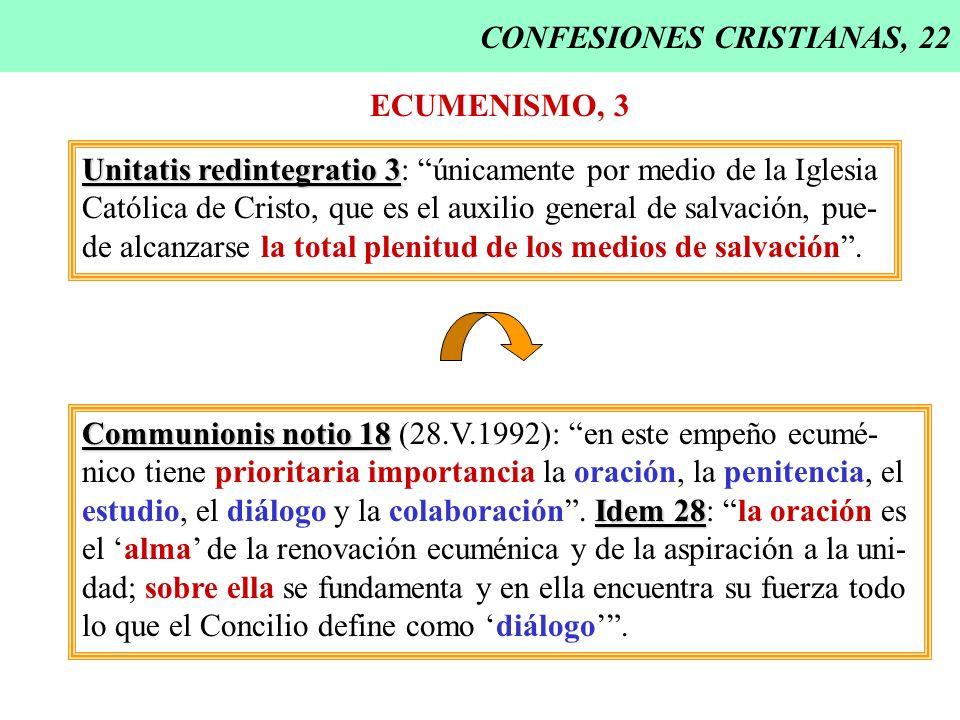 CONFESIONES CRISTIANAS, 22