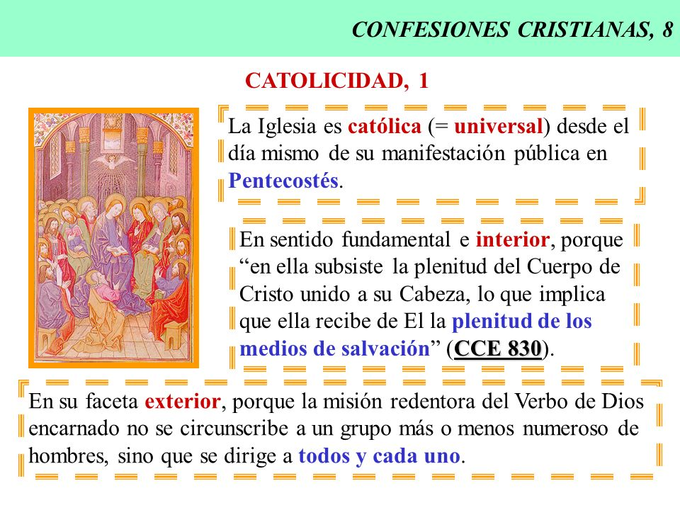 CONFESIONES CRISTIANAS, 8