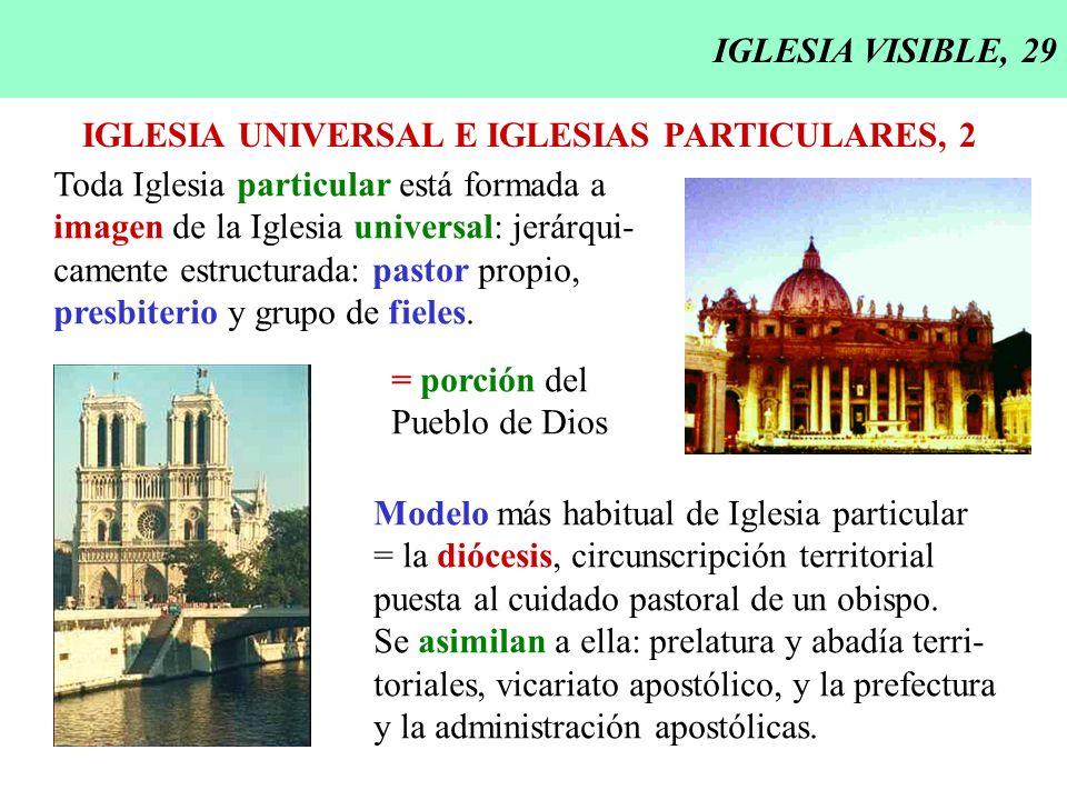 IGLESIA VISIBLE, 29 IGLESIA UNIVERSAL E IGLESIAS PARTICULARES, 2. Toda Iglesia particular está formada a.