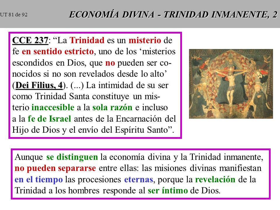 ECONOMÍA DIVINA - TRINIDAD INMANENTE, 2