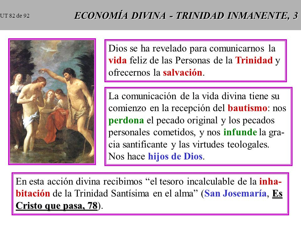 ECONOMÍA DIVINA - TRINIDAD INMANENTE, 3