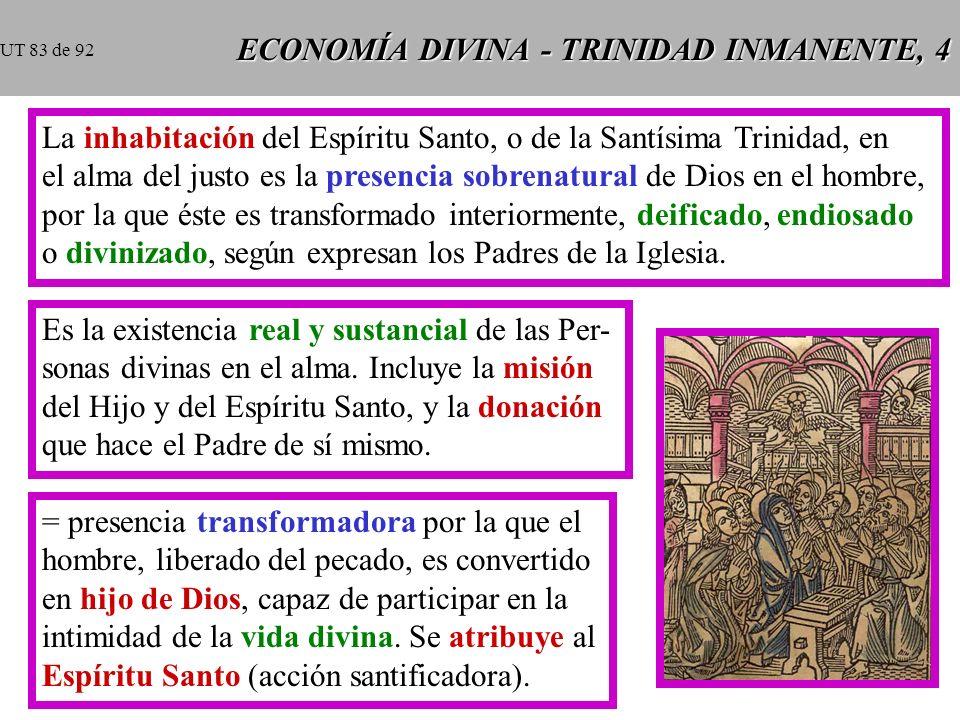ECONOMÍA DIVINA - TRINIDAD INMANENTE, 4