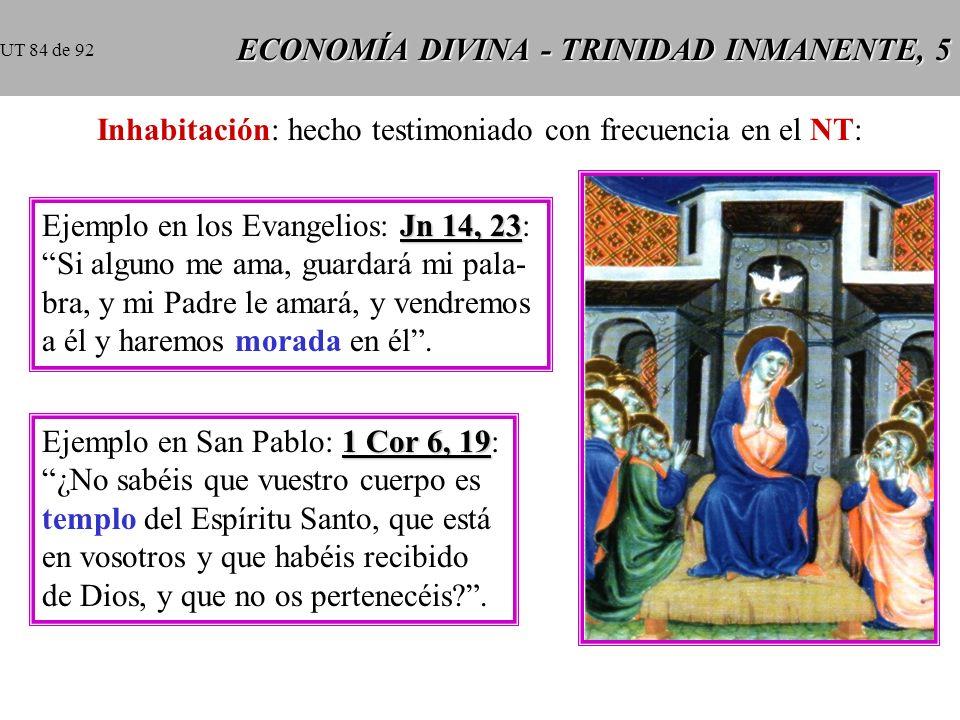 ECONOMÍA DIVINA - TRINIDAD INMANENTE, 5