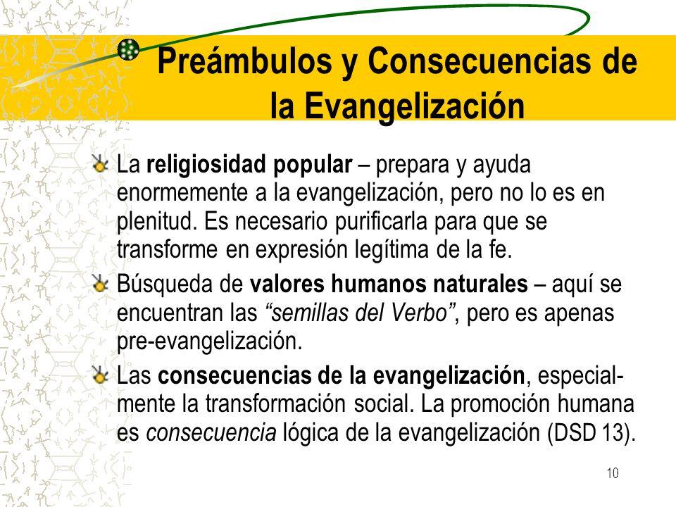 Preámbulos y Consecuencias de la Evangelización