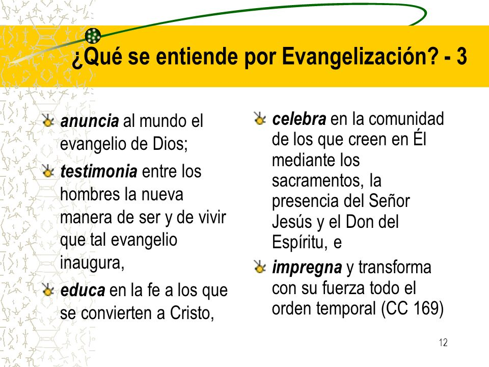 ¿Qué se entiende por Evangelización - 3