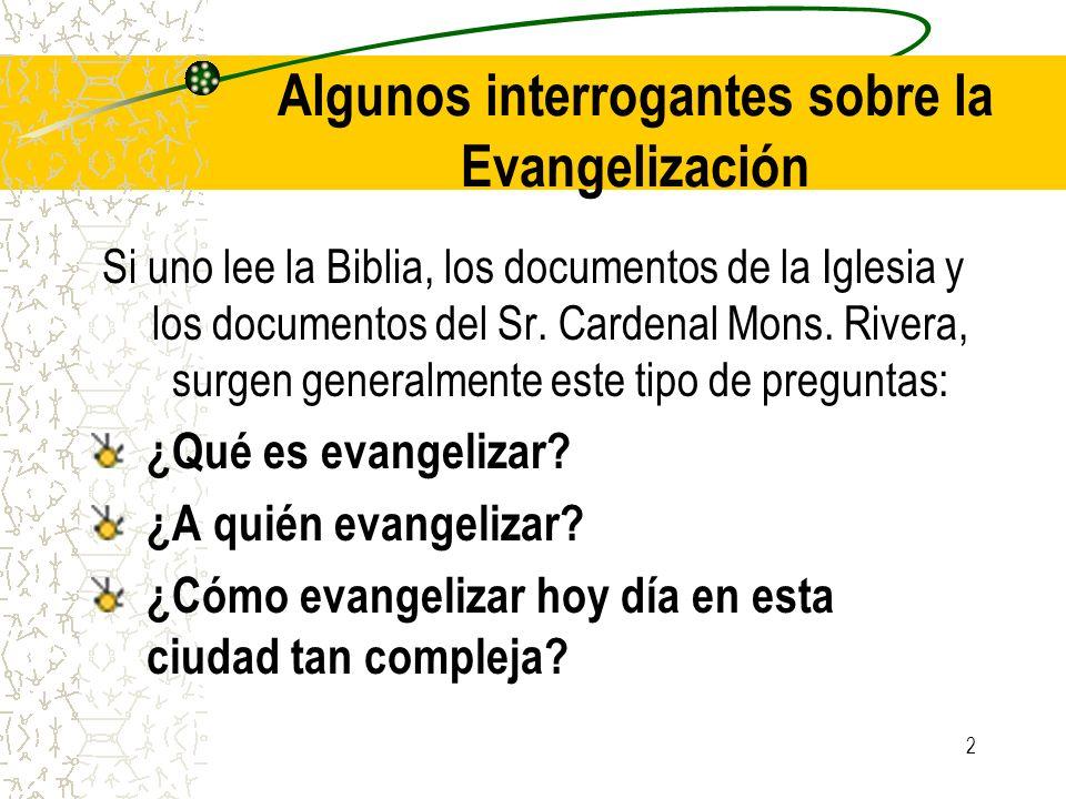 Algunos interrogantes sobre la Evangelización
