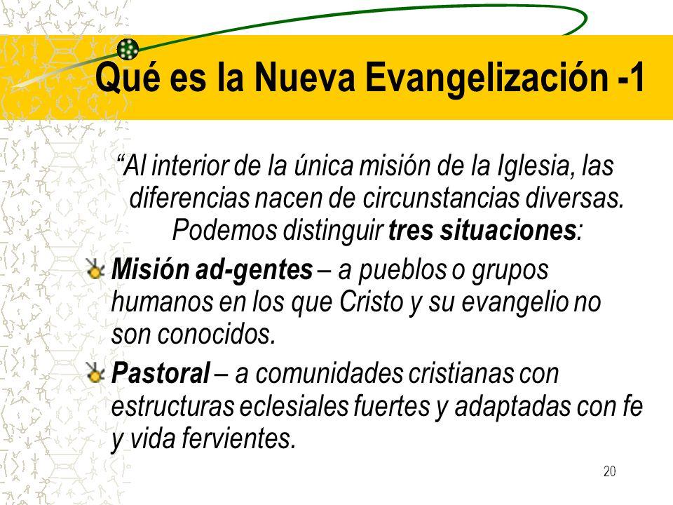 Qué es la Nueva Evangelización -1