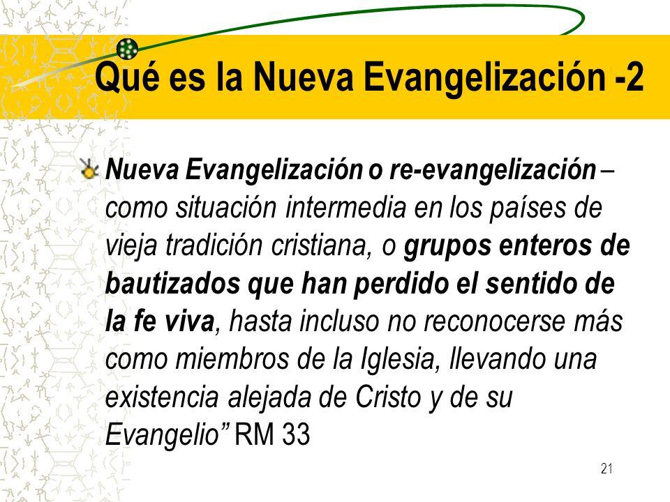 Qué es la Nueva Evangelización -2