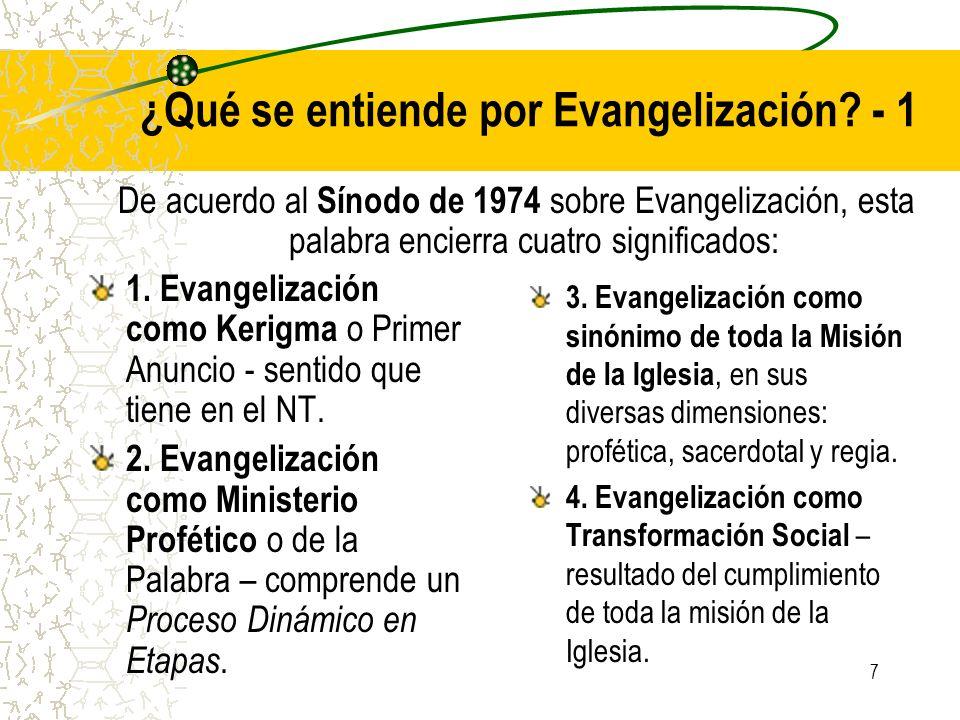 ¿Qué se entiende por Evangelización - 1