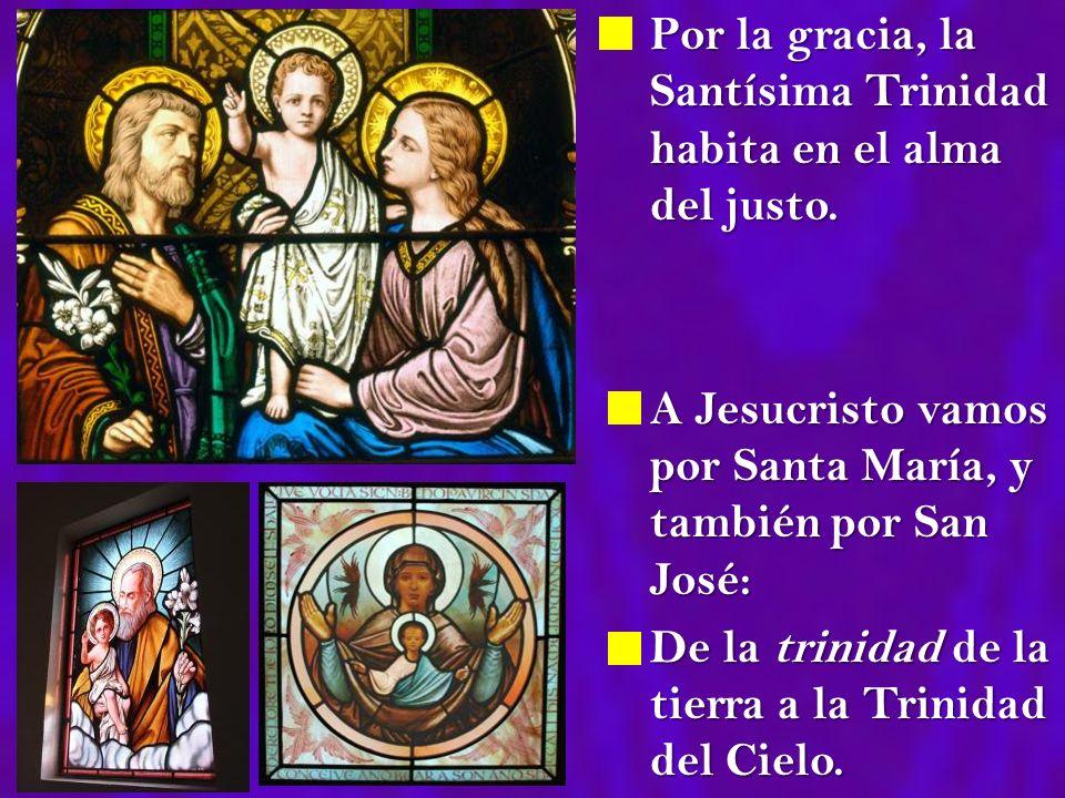 Por la gracia, la Santísima Trinidad habita en el alma del justo.