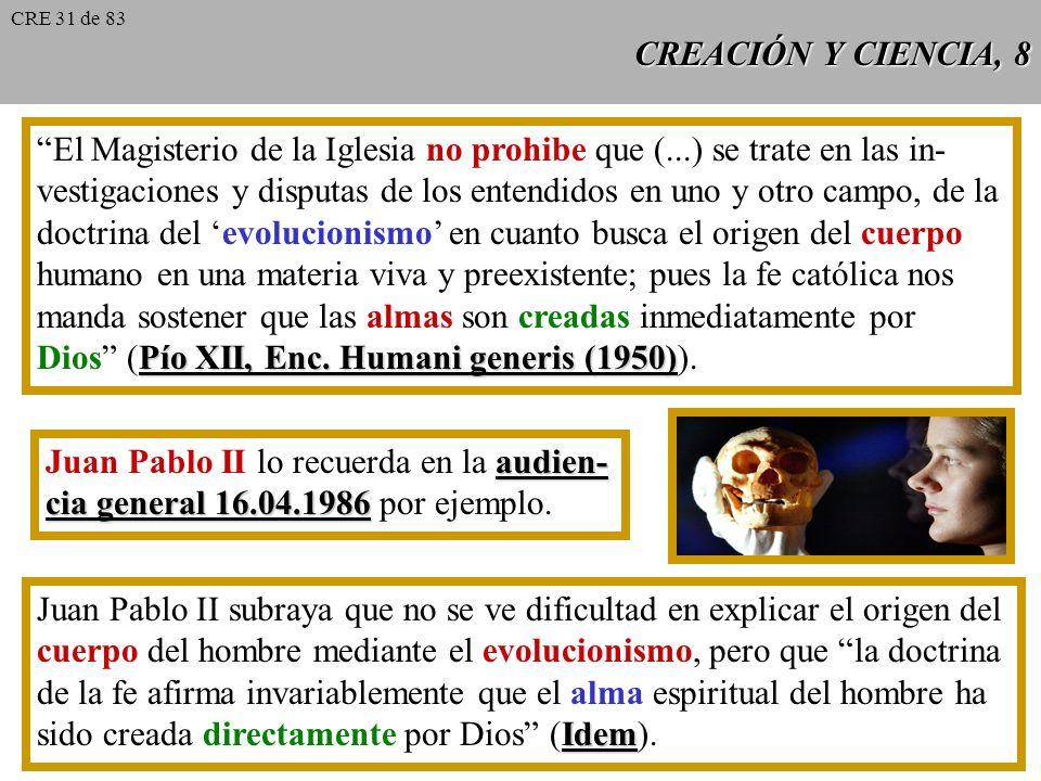 El Magisterio de la Iglesia no prohibe que (...) se trate en las in-
