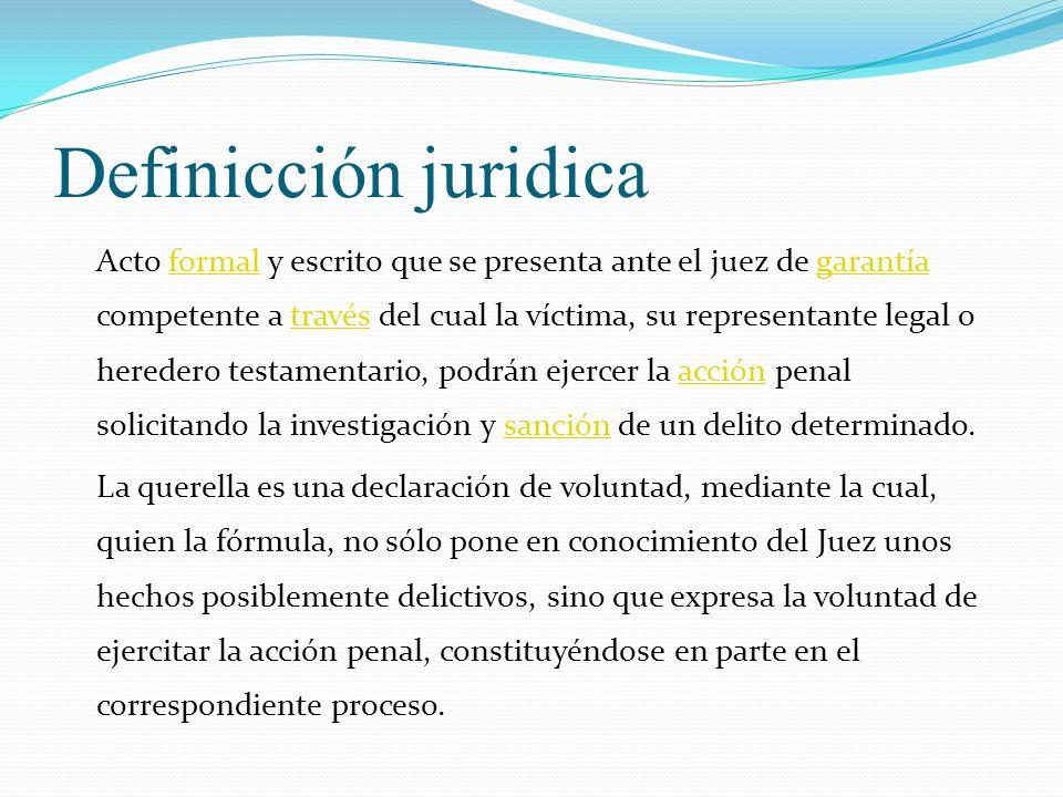 Definicción juridica