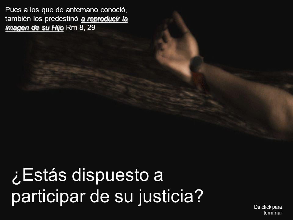 ¿Estás dispuesto a participar de su justicia