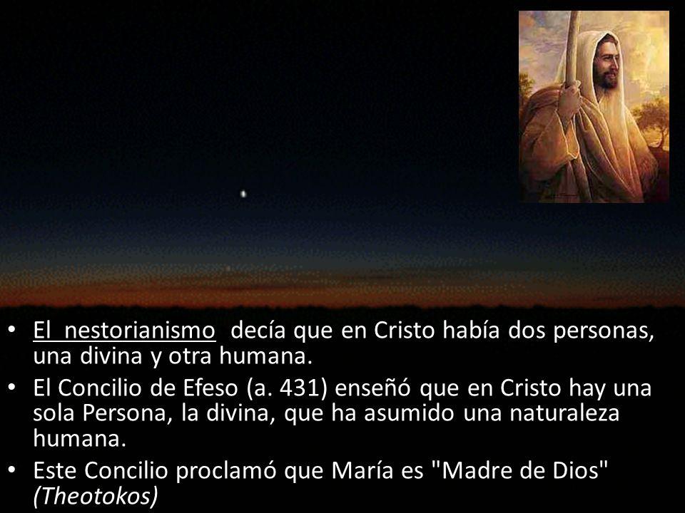 El nestorianismo decía que en Cristo había dos personas, una divina y otra humana.