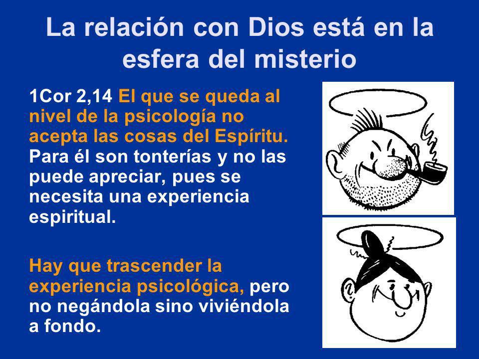 La relación con Dios está en la esfera del misterio