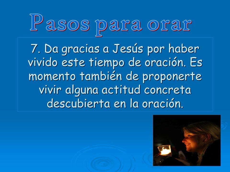 Pasos para orar