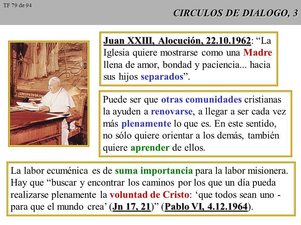Juan XXIII, Alocución, 22.10.1962: La