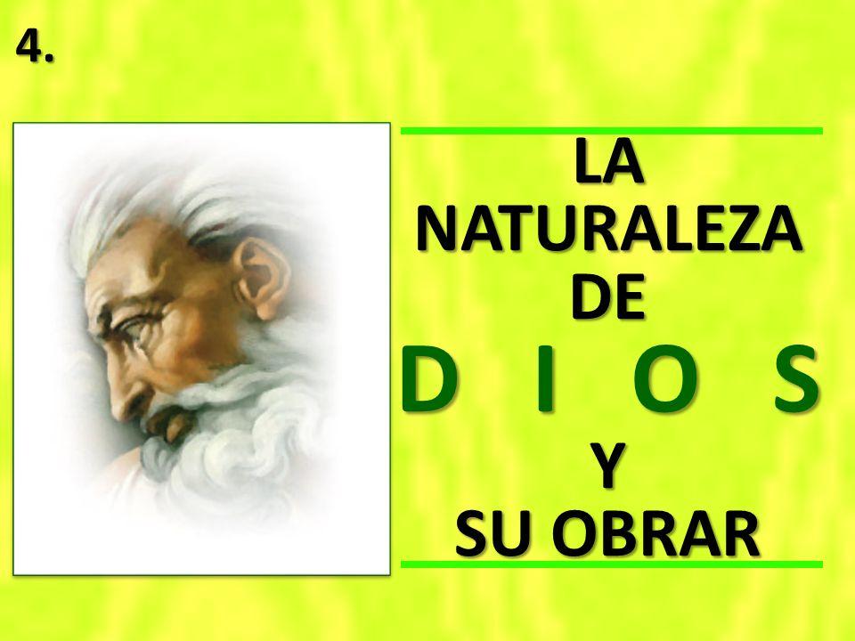 LA NATURALEZA DE D I O S Y SU OBRAR