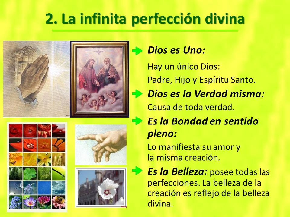 2. La infinita perfección divina