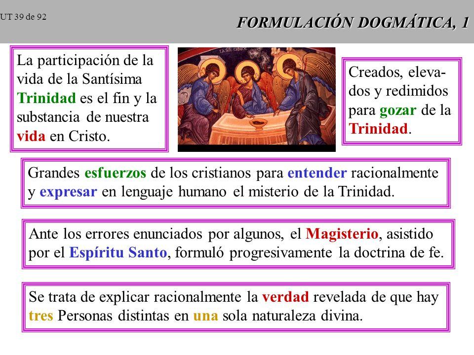 FORMULACIÓN DOGMÁTICA, 1