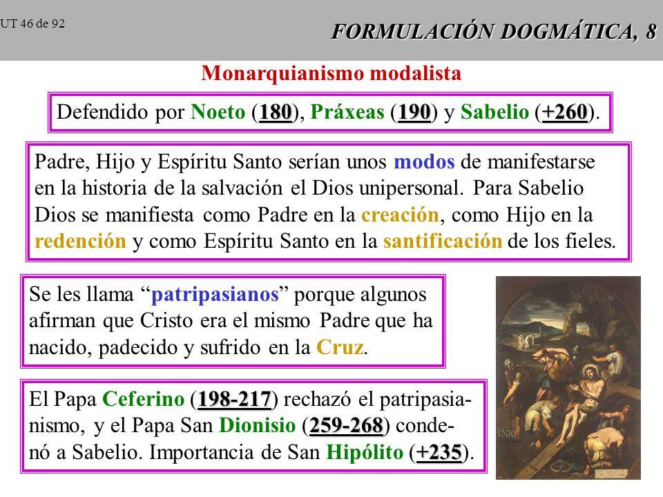 FORMULACIÓN DOGMÁTICA, 8