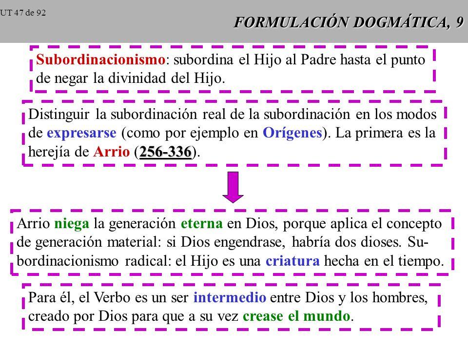 FORMULACIÓN DOGMÁTICA, 9