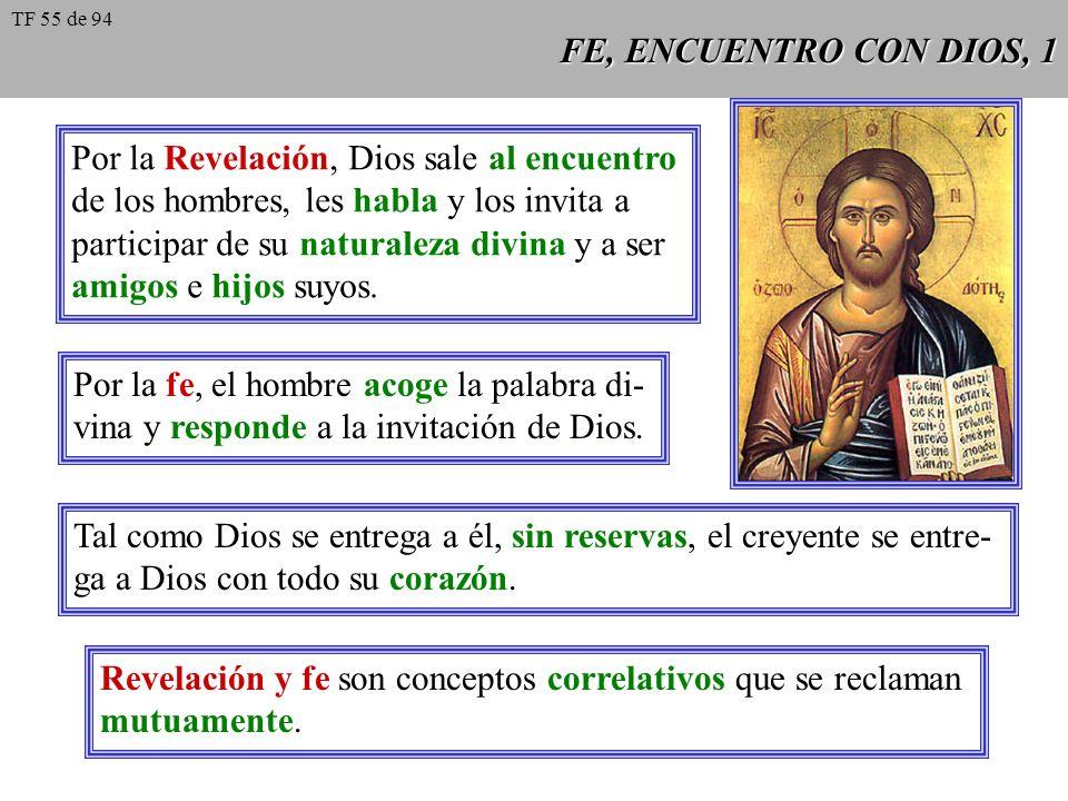 Por la Revelación, Dios sale al encuentro