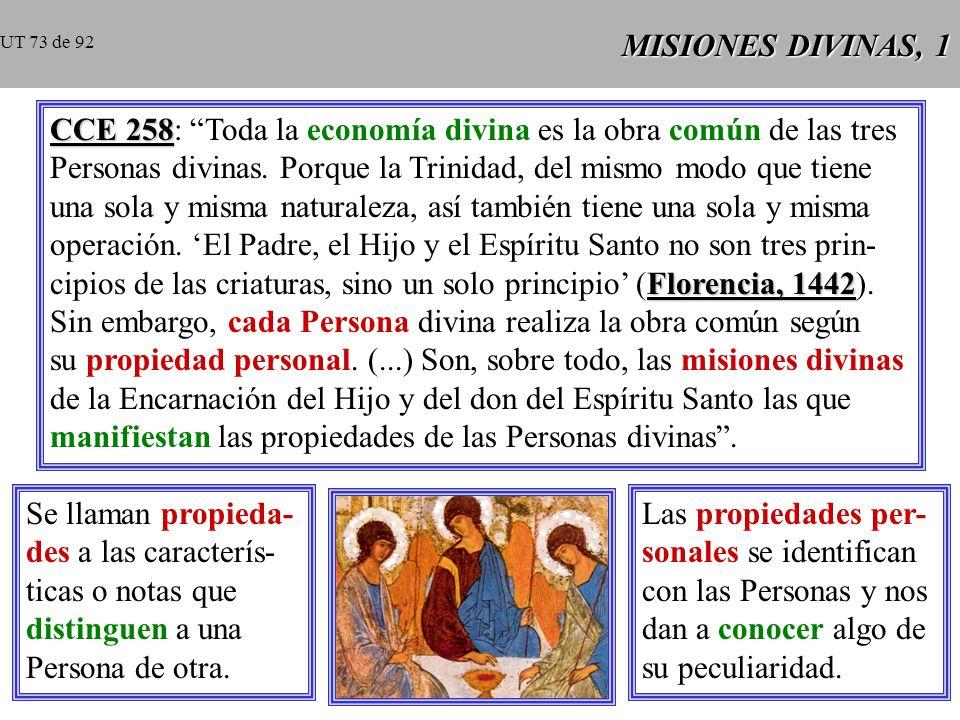 CCE 258: Toda la economía divina es la obra común de las tres