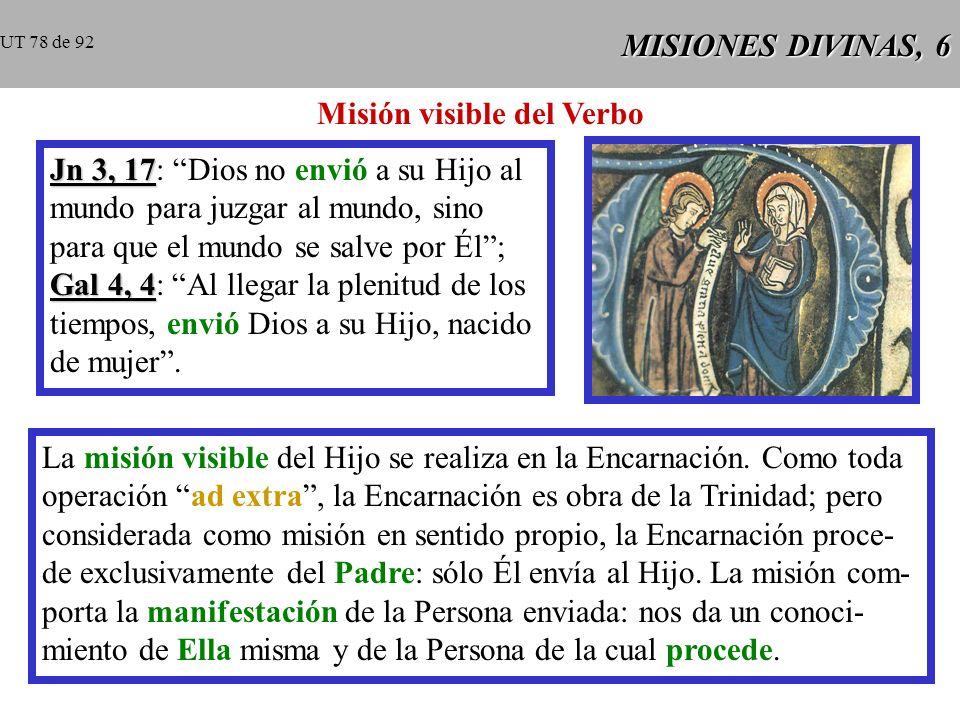 Misión visible del Verbo