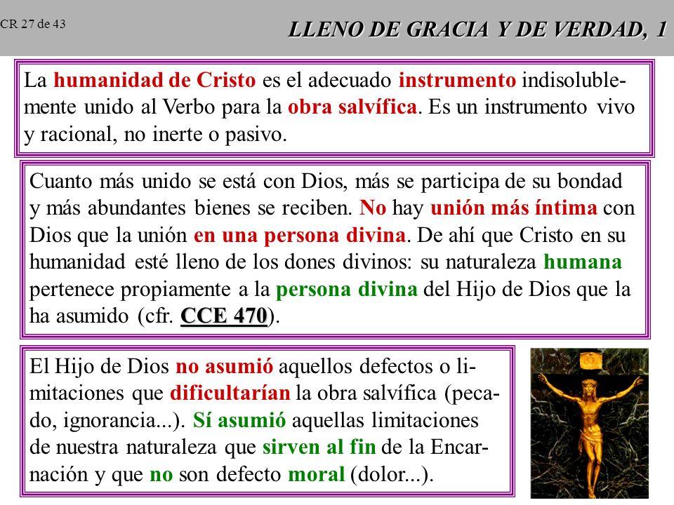 LLENO DE GRACIA Y DE VERDAD, 1