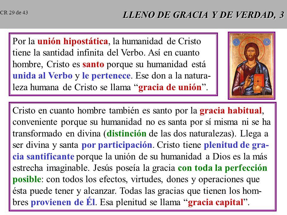 LLENO DE GRACIA Y DE VERDAD, 3