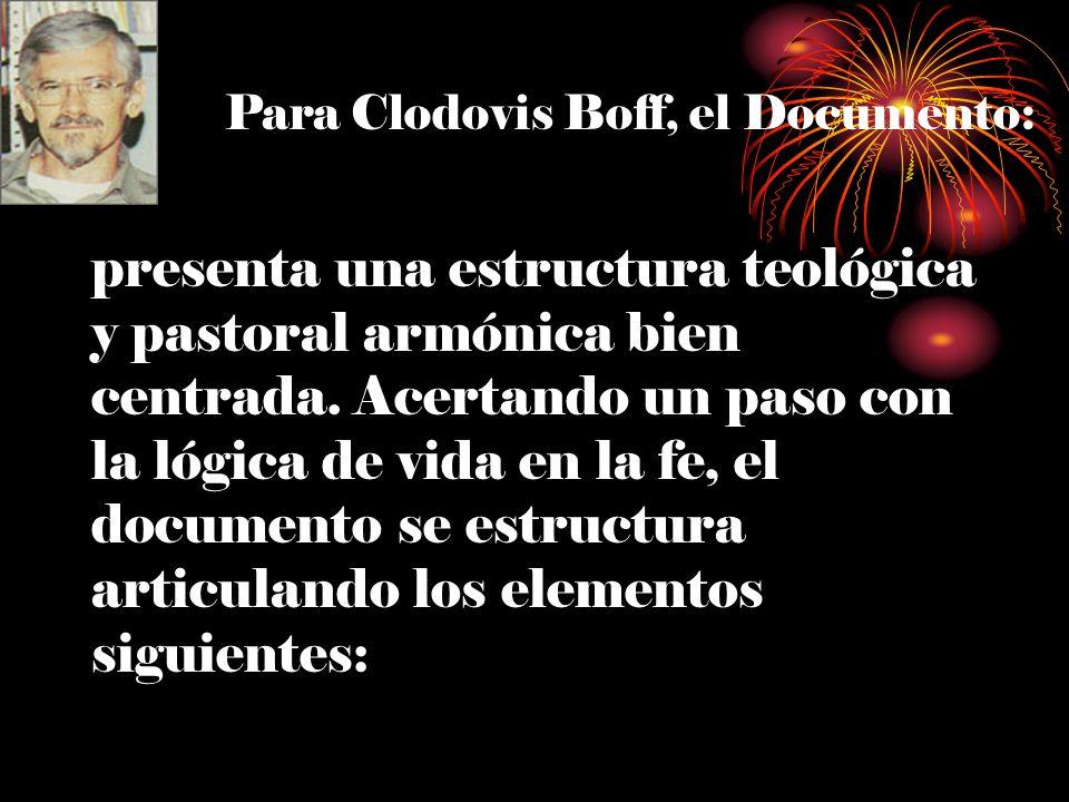 Para Clodovis Boff, el Documento:
