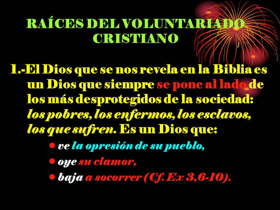 RAÍCES DEL VOLUNTARIADO CRISTIANO