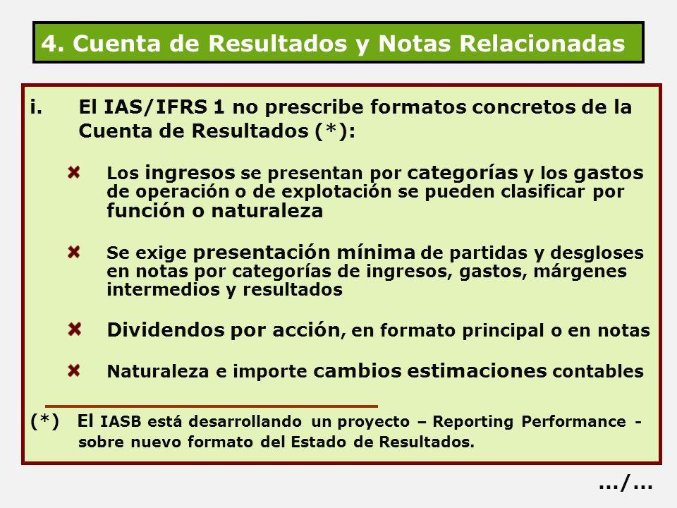 4. Cuenta de Resultados y Notas Relacionadas