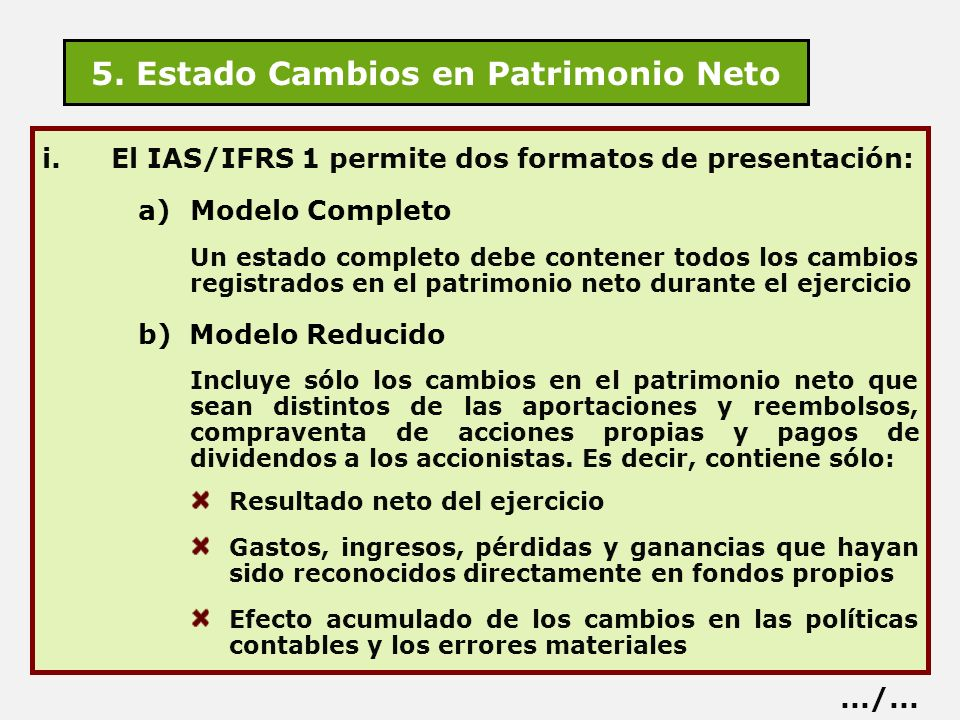 5. Estado Cambios en Patrimonio Neto