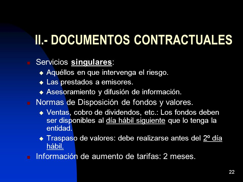II.- DOCUMENTOS CONTRACTUALES